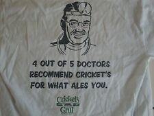 Cricket's Grill Draft House Beer Funny Men's T Shirt Size M