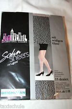 Luxus 5 th Avenue Nylons Satin Glanz Strumpfhose Gr. 40 Steppe 15 Den Vintage