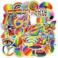50Pcs Rainbow Pride LBGT Stickers Car Skateboard Laptop Luggage Decorations Nice