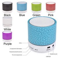 Mini Hands-free Wireless Bluetooth Speaker Flash LED Light TF Card AUX USB Top