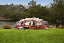 Family Camping Tent 12 Persons 3 Room Outdoor Picnic Cabin Front Porch Shelter