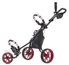 Caddytek 11.5 ALU 3 Rad Golf Push Trolley leichter Caddy schwarz Raeder rot 2018