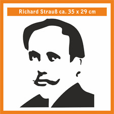 RICHARD STRAUSS Wandtatoo, ca. 35 x 29 cm, Hochleistungsfolie mit Montagepapier
