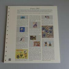 Feuilles pré imprimées Safe-dual France 2001- Occasion.