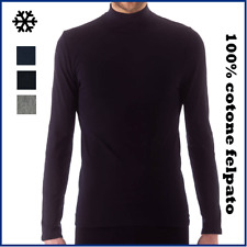 Sottogiacca da uomo maglia lupetto maniche lunghe in 100% caldo cotone invernale