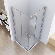 90 x 75 cm Duschkabine Eckeinstieg Duschabtrennung Dusche Duschwand Falttür  195