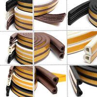 KE_ 5M Draught Excluder Self Adhesive Rubber Door Window Seal Strip Roll Foam