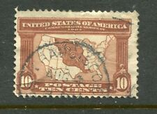 U.S.A....  1904  10c map  used
