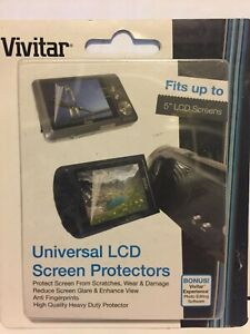 """Vivitar Universal LCD Screen Protectors - fits up to 5"""" LCD Screen"""