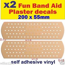 2 Fun Band Aid Plaster Car Decals Motorcycle vw honda van bus truck sticker dub