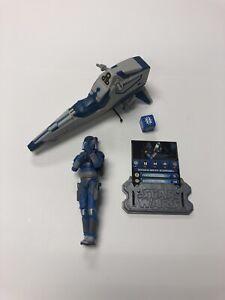 Star Wars Clone Wars Mandalorian Speeder with Mandalorian Warrior loose