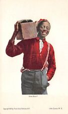 BLACK SHOE SHINE BOY WITH HIS EQUIPMENT, HULD PUB PMC CARD #3 dated 1900