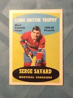 SERGE SAVARD 1969-70 OPC # 210  ROOKIE CARD EX-Mt+