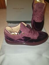 """Android Homme Velvet Trainers in """"Wine"""" Brand New/Boxed Size 9 (43) RRP £240"""