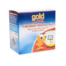 INTERPET GOLD FISH BOWL UNDERGRAVEL FILTRATION STARTER KIT AIR PUMP PLANT