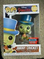Jiminy Cricket Disney Pinocchio NYCC Funko Pop Vinyl New in Mint Box + Protector