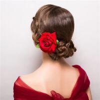 Rose Flower Hair Clip Bridal Hairpin Brooch Wedding Accessory Bridesmaid G9Z