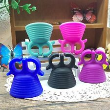 Wearable Spiral Silicone Nail Polish Finger Holder Display Varnish Bottle Stand
