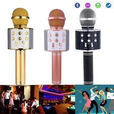 Wireless bluetooth Karaoke Microphone Stereo Mic KTV USB Speaker Player WS-858