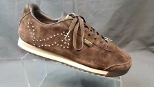 Puma Roma Diamond Brown Suede Leather Jeweled Sneakers Women's US 9.5 EU 40.5