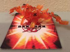 Bakugan Translucent Atmos Aquos 720G Power B3 Orange Bakusolar Battle Brawlers