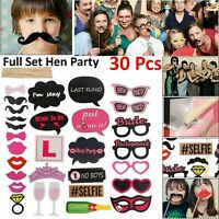 30pcs Funny Party Props Photo Booth Moustache Birthday Christmas Wedding Selfie