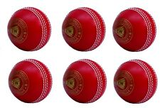 Pack Of 6 Red Cricket Ball Light Spin Poly Soft Outdoor Bowling Match Training