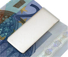 HALLMARKED SILVER MONEY CLIP. CLASSIC PLAIN FINISH STERLING SILVER MONEY CLIP