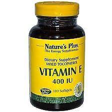 Natures Plus Vitamin E 400 IU - 180 Softgels New Free Shipping