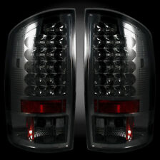 RECON DODGE RAM SMOKED LED TAIL LIGHTS 02-06 PART# 264171BK
