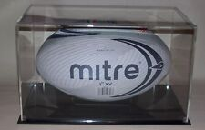 RUGBY BALL DISPLAY CASE CLEAR  ACRYLIC  UV SAFE
