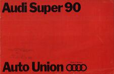 Brochure Depliant Auto-Union Audi Super 90 1968 Italiano