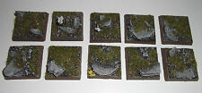 Wargames 25mm Rock Scenic wargaming Resina bases X10