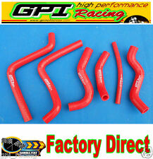 FOR Honda CR125 CR 125 CR125R 2000 2001 2002 00 01 02 silicone radiator hose red