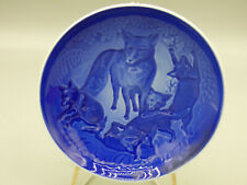 B&G Bing & Grondahl Mother's Day 1979 Collector Plate Foxes Denmark