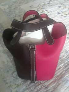 Hermes Framboise/Rouge Sellier Picotin18 Bag PHW