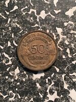 1936 France 50 Centimes (3 Available) Circulated (1 Coin Only)