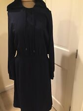 Nordstrom Signature Hooded Blue NWT Sweatshirt Dress M 8-10 $299