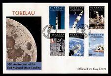 DR WHO 1999 TOKELAU FDC SPACE 30TH ANNIV APOLLO 11  C238927
