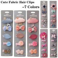 5PCS Baby Kids Girl Cartoon Baby Kids Girls HairPin Hair Clips Party Jewelry