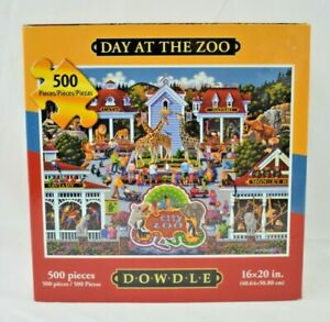 Dowdle Puzzles - Day at the Zoo - 500 Piece Jigsaw Puzzle - 100% Complete