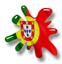 Retro Old School SPLAT & Portugal Poruguese Country Flag vinyl car sticker decal