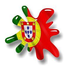 Retro Vieja Escuela Splat & Portugal poruguese País Bandera Vinilo Coche Pegatina Calcomanía