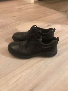Ecco black leather lace up shoes, size 6 / Eur 39. New.