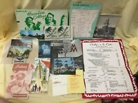 Americana Lot of Vintage RESTAURANT MENUS 1950s 1960s New York Jersey & Others