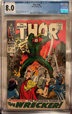 Thor #148 CGC 8.0 OW/W - 1st Appearance of The Wrecker; Origin of Blackbolt