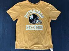 NFL Team Apparel Pittsburgh Steelers Helmet Logo Mens L T-Shirt