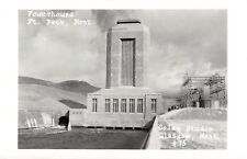Fort Peck Montana~Powerhouse Spillway~Dam~Power Plant~Art Deco Tower~1950s Rppc