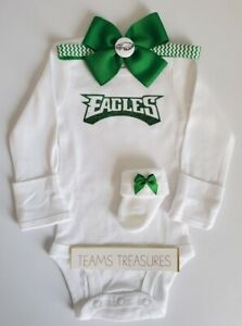 Eagles newborn/baby girl clothes Eagles baby gift girl baby girl Eagles