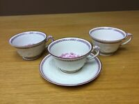 Wedgwood Paignton Patrician Footed Cup & Saucer with 2 Extra Cups - Excellent